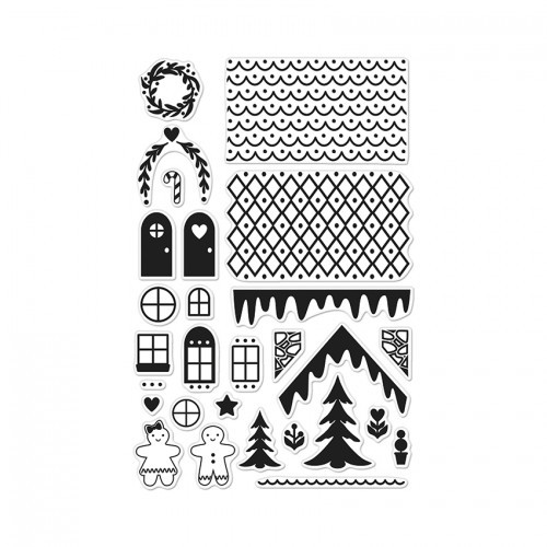 Hero Arts Clearstempel-Set Make A Gingerbread House CL895
