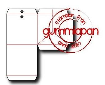 Gummiapan Stanzform Tasche klein / Påse Mini D180215