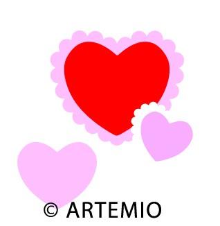 Artemio Happycut Stanzformen 6,8x6,8 cm + 4,2x4,2 cm Herz-Rahmen#16 1802