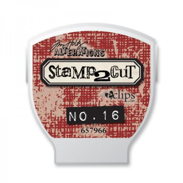 Sizzix Ecliipse Cartridge Tim Holtz Stamp2Cut No. 16 657966
