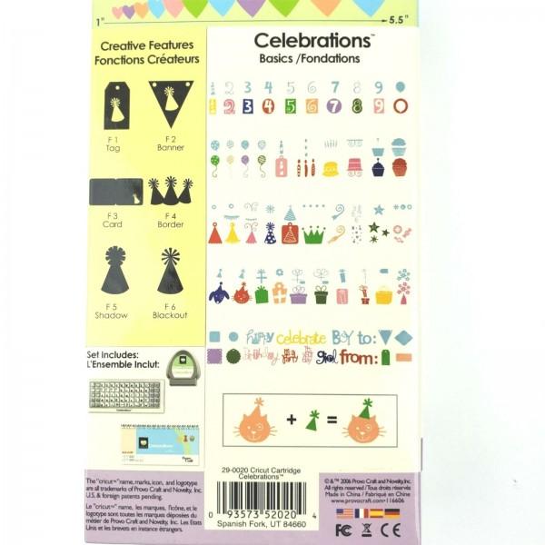 Cricut Cartridge Celebrations 29-0020