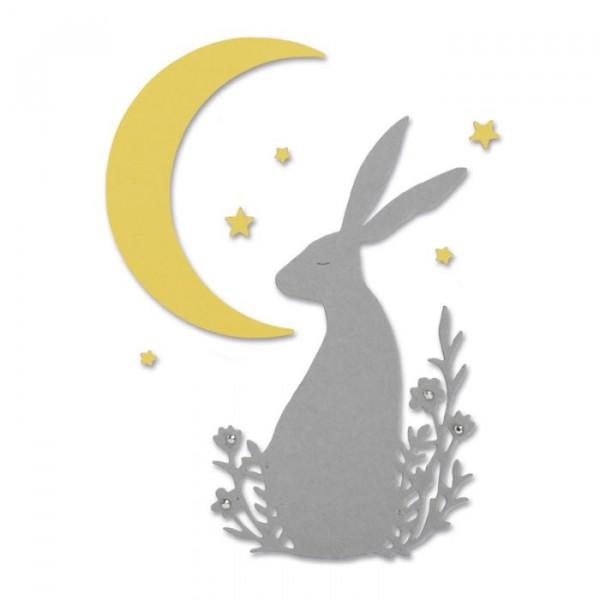 Sizzix Stanzform Thinlits Hase u. Mond / Midnight Hare 663316
