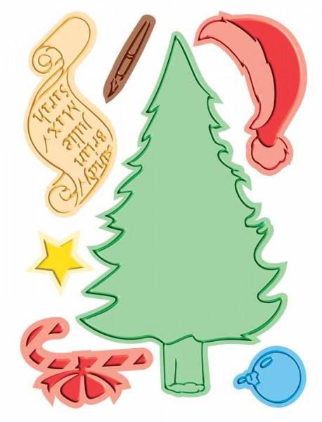Cuttlebug Stanzform & Prägefolder GROSS Weihnachtsmannliste 37-1733