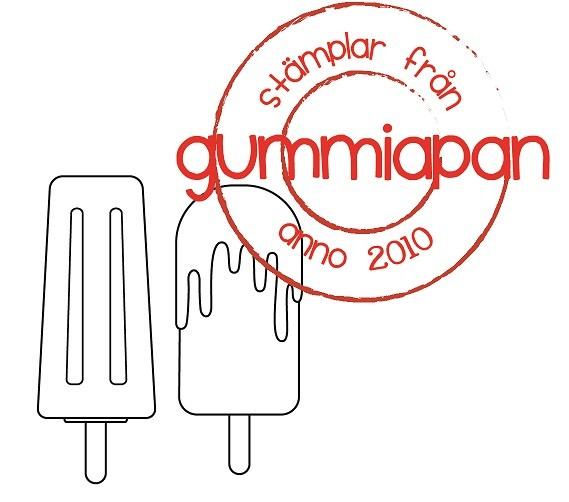 Gummiapan Stempelgummi Eis am Stil / Glassar 19040407