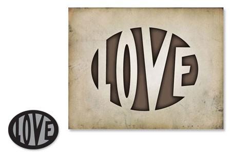 Sizzix Einsatz-Stanzform Movers & Shapers ' LOVE ' 657077
