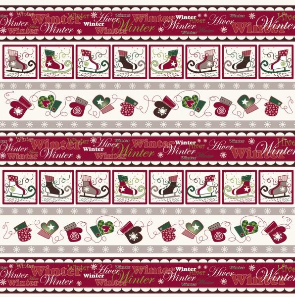 Scrapbook-Papier Winterland-Bordüre 30,5x 30,5 cm 79-818-000 ( r