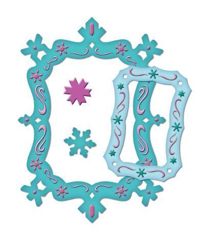 Spellbinders Stanzform Rahmen Schneeflocken / snowflake frame S5-017