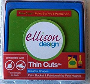 Ellison Designs Thin Cuts Stanzform Farbeimer u. Farbpinsel / paint bucket & paintbrush 22086