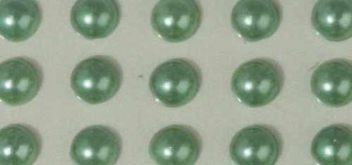 Plastik-Halbperlen selbstklebend 2 mm GRÜN 15-106-29