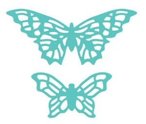 Taylored Expressions Stanzform Elegant Butterfly Overlays TE157