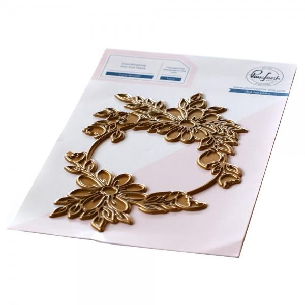 Pinkfresh Studio Hot Foil Plate Daisy Wreath PF119221