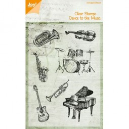 Joycrafts Clearstempel-Set Musikinstrumente / Dance To The Music 6410/0429