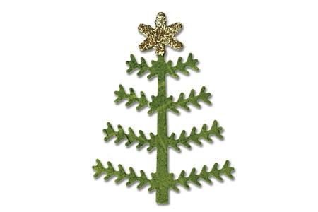 Sizzix Stanzform Sizzlits small Weihnachtsbaum # 5 / tree Christmas # 5 657038