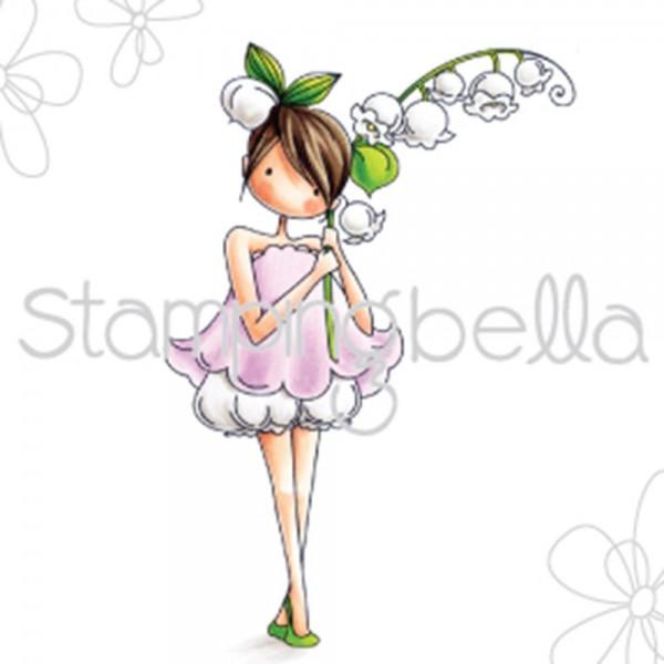 Stampingbella Cling Stempel Mädchen & Maigllöckchen/Tiny Townie Garden Girl Lily Of The Valley EB449