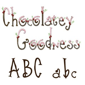 Sizzix Stanzform Sizzlits Alphabet 9-er Chocolatey Goodness 3,2 cm 655107