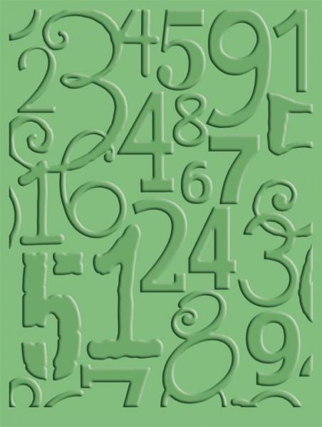 Cuttlebug Prägefolder Number Collage 37-1639