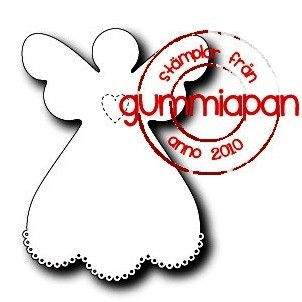 Gummiapan Stanzform Engel groß / Ängel stor D180234