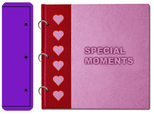DD Mini Book Special Moments Hearts with Rings BE102LARGE