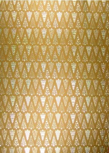 Weihnachtspapier Tannenbäume GOLD A 4