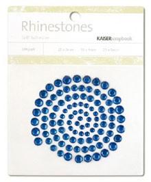 Rhinestones / Glitzersteine selbstklebend DUNKELBLAU SB704