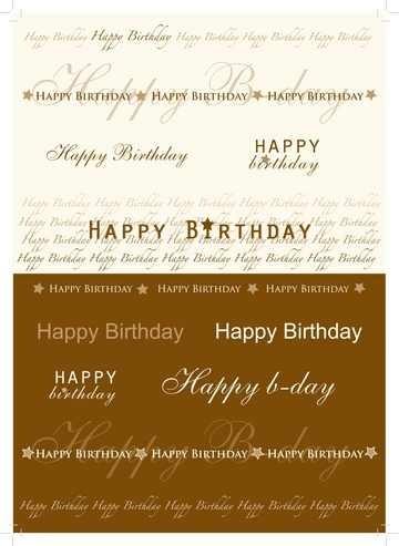 Transparent-Papier A 4 Text Happy Birthday braun 61815