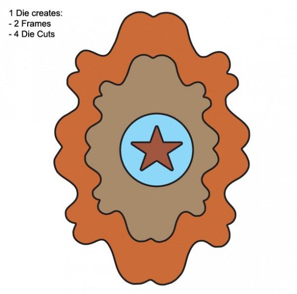 DD Rahmen Stern / all star FRM102
