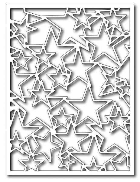 Frantic Stamper Stanzform Sternen-Hintergrund / Star Card Panel FRA-DIE-09412