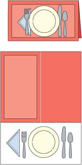 Cuttlebug Stanzform GROSS Platzset / place setting 37-1632