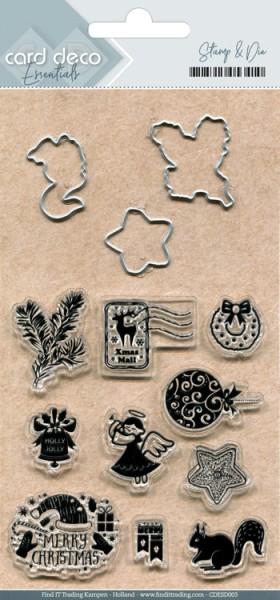 Card Deco Stanzform u. Clearstempel Weihnachtssymbole CDESD003