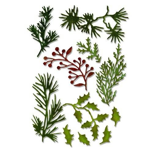 Sizzix Thinlits Stanzform Zweige Mini / Holiday Greens Mini 661597