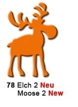Motivstanzer mittel Elch stehend ( orange ) UR 1948 00 78