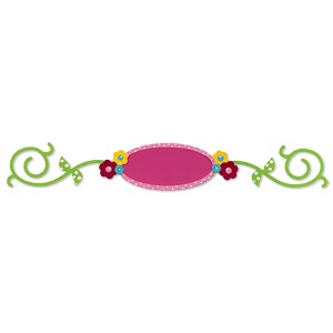 Sizzix Stanzform Sizzlits Border Hello Kitty Rahmen & Blumen & Stengel 655855