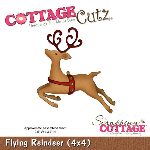 Rentier springend / flying reindeer SC-CC4x4-288