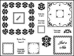 Stamping Scrapping Clear Stamps Lacey Squares SMS3000-3032
