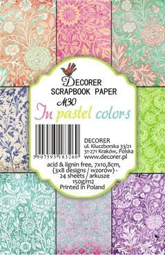 Decorer Paper Pack 7 cm x 10,8 cm PASTEL COLORS M30