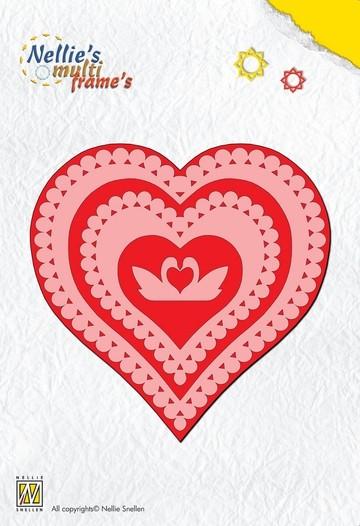 Nellie Stanzform Multi Heart / Herz MFD022