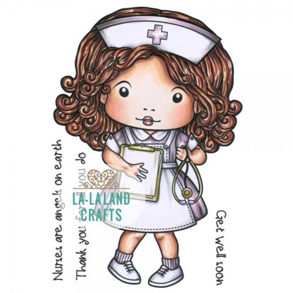 La-La Land Crafts Stempelgummi-Platte montiert Krankenschwester / Nurse Marci 5335