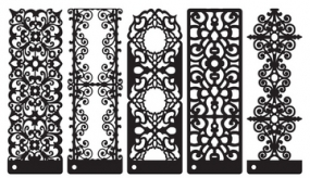 Prima Marketing Stencils Romantic Accents 882006