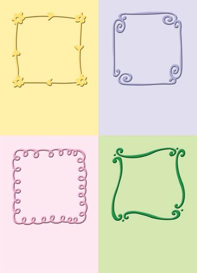 Cuttlebug Prägefolder-Set verspielte Quadrate / playful squares 37-1252