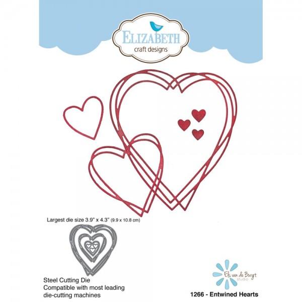 Elizabeth Craft Stanzform verflochtene Herzen / Entwined Heart 1266