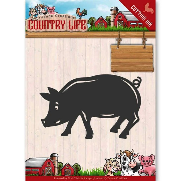Yvonne Creations Stanzform Schwein / Pig YCD10130