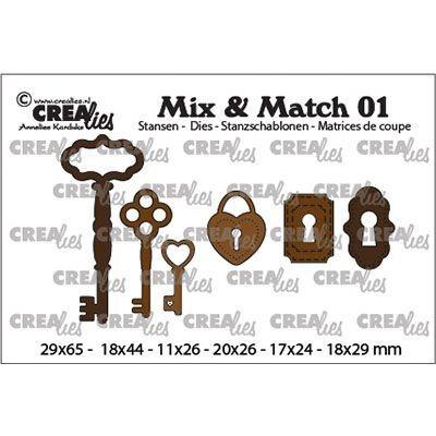 Crealies Stanzform Mix & Match 01 Schlüssel u. Schlüsselloch CLMix01