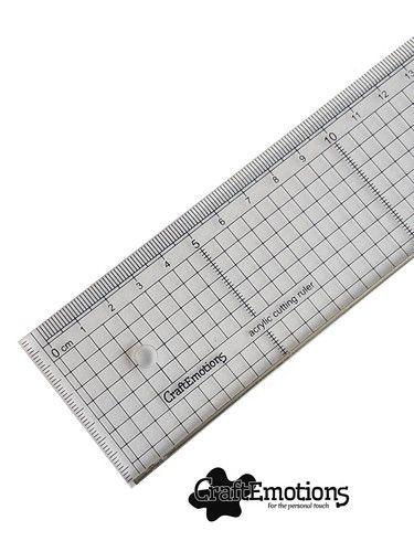 Lineal durchsichtig mit Stahlkante 40 cm 860515/8112