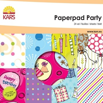 Paperpad PARTY 15,2 x 15,2 cm 001861/0001 od.117000/0001