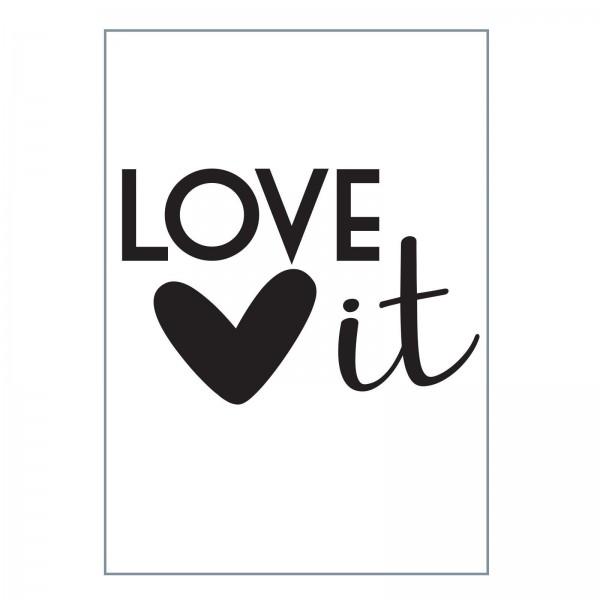 Vaessen Creative Prägefolder A 6 LOVE it mit Herz 100604-003