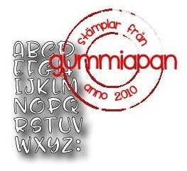 Gummiapan Stanzform Alphabet Großbuchstaben / Alfabete D180209