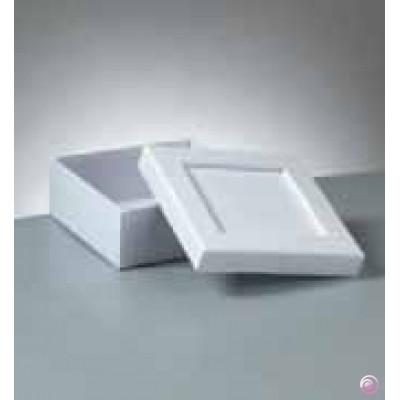 Efco Pappbox weiss quadratisch mit Vertiefung 16 x 16 cm 2634035