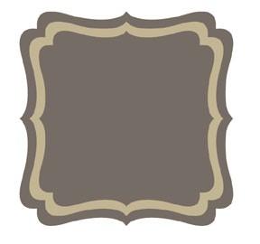 Go Kreate Stanzform Rahmen / Hintergrund quadratisch Pointy # 3 160004