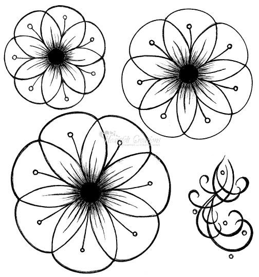 Heartfelt Creations Stempel Cameo Daisy flowers 2 HCPC2243