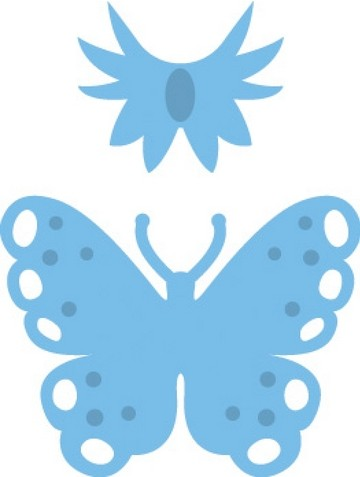 Marianne D Creatables Schmetterling klein /Vlinders klein LR0153